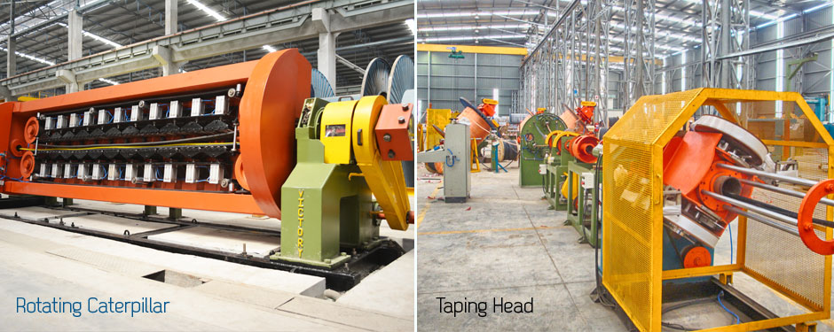 Rotating Caterpillar and Taping Head